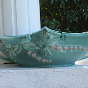 SALE Roseville Bleeding Heart Green Console Bowl