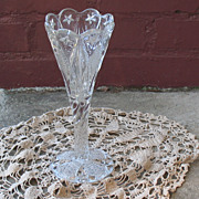 SALE Early American Pressed Glass Vase Maryland Star Early 1900