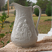 SALE Antique Rumpelstiltskin Parian Pitcher~~Circa 1850's