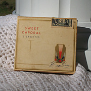 World War II Sweet Caporal Cigarettes Paper Box With Stamp