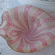 Vintage Murano Glass Large Lattice Dish~Gorgeous Piece