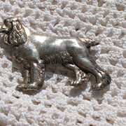 "Sterling Setter ""Dog"" Brooch~Marked"
