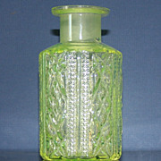 Vintage Uranium Glass Cologne Bottle