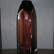 Mikasa Blown Glass Amethyst Purple Vase made in Romania 12 1/2 inches tall