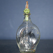 Miniature Vintage Victorian Style Blown Glass Perfume Bottle
