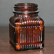 Illinois Owens Brown Glass Ink Bottle
