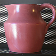 Vintage pottery Rose Colored Water Pitcher  New Mexico