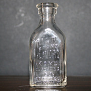 Vintage Embossed Bottle M & R Brand Flavors Acme Flavoring Co.