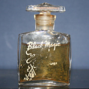 Black Magic Vintage Bottle Glass Stopper and Contents