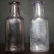 2 Vintage Essence or Extract Bottles, With Applied Lip