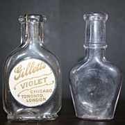 2 Vintage Perfume Bottles, One has Gilletts Violet Label