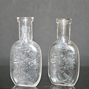 Set of 2 Vintage Embossed Larells Perfume Bottles