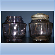 Set Of 2 1918 Violet Dulce Harmony Of Boston Jar with 1 Lid