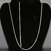 Italian Figaro Sterling Silver Chain & Bracelet Set