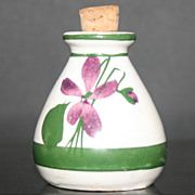 Vintage Devon Violets Perfume Pot w/Cork (Empty) Made in Great Britain