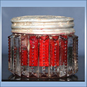 Vintage Glass Jar of Steins Cosmetic Rouge