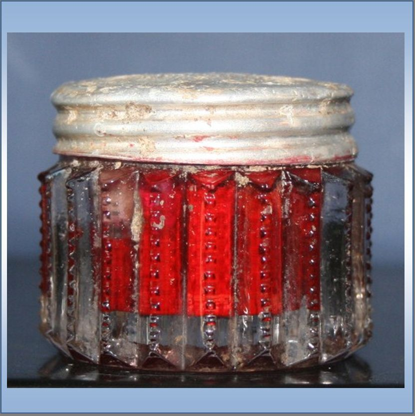 Vintage Glass Jar of Stein's Cosmetic Rouge