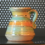 Vintage Signed Small Pitcher Puente Arzobispo Spain