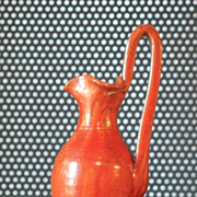 SALE Vintage Hand thrown Pitcher Rebecca Jug North Carolina, Orange