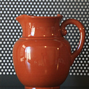 Vintage  Light Brown Ceramic Pitcher