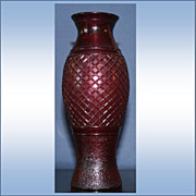 Vintage Pressed Glass Cranberry Glass Vase