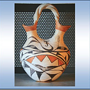 REDUCED Acoma Circa 1900 Wedding Vase Jar New Mexico