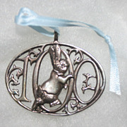 Hand and Hammer Beatrix Potter Sterling Silver Collectible Centennial Ornament