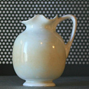 Antique White Porcelain Miniature Pitcher Derbyshire England