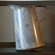 Vintage Tin Pitcher Tinsmith Hand Made