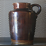 Vintage Brownstone Pitcher Early 1900s