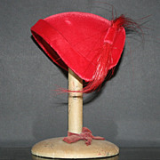 Vintage Red Velvet Headband Hat
