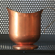 John Charles Copper-ware creamer with brass handle and tin inside