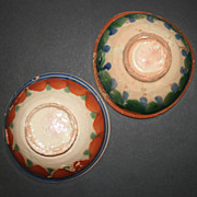 SALE Set of 2 Vintage Mojolica  Mexican Pottery Bowls