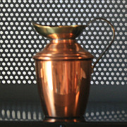 Vintage Copper and Brass miniature pitcher made in England