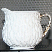 Vintage Fine China Miniture Pitcher with Gold Accents