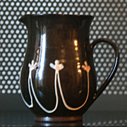Vintage Signed Polished Black Creamer / Pitcher made in Whales