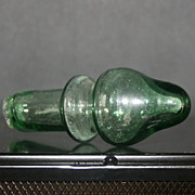 Vintage Large Sea Green Blown Glass Stopper