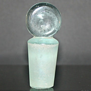 Vintage Sea Foam Green Solid Glass Stopper