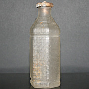 Early 1900s Owens-Illinois Glass Co. Hexagon  Bottle With Metal Top