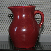 Vintage Dark Raspberry Red Pitcher From Ohio