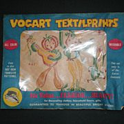 1950s Vogart Textilprints Musical Vegetables