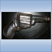 Vintage Glass Pistol Gun Pistol Shaped Candy Holder