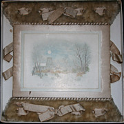 SALE Bullard Art Publishing Company Antique Card In Original Box