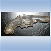 Vintage Glass Gun Pistol Shaped Candy Holder USA AVOR
