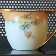 Vintage Signed Handpainted Germany porcelain creamer / pitcher with roses