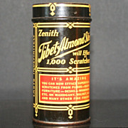 Zenith Tibet Almond Stick Vintage Metal Jar with Full Stick and Label