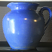 Vintage Blue Salt Glaze Pitcher with Lid Georgia