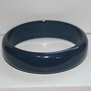 Vintage Lucite Dark Blue Bangle Bracelet