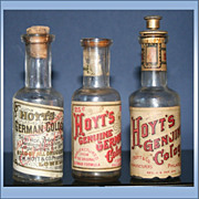 Set Of 3 Hoyt�s Bottles Genuine German Cologne And Genuine Cologne With Labels