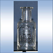 Vintage Hoods French Cologne Bottle MC Hood & Co Boston